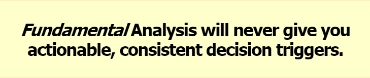 Fundamental Analysis will never give you actionable, consistent decision triggers.