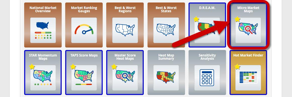Micro Market Maps - Dashboard