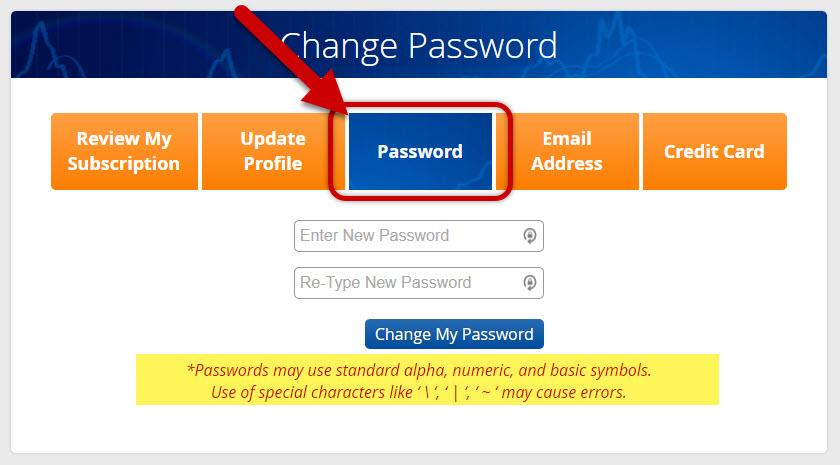 Change My Password - Step 2